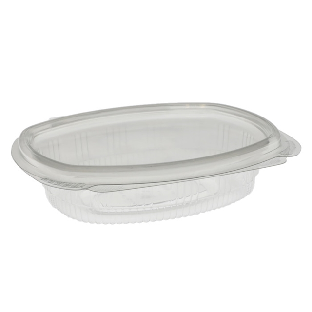 8 oz APET hinged lid deli container