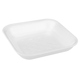 #1-1/2 WHITE SUPERMARKET TRAY