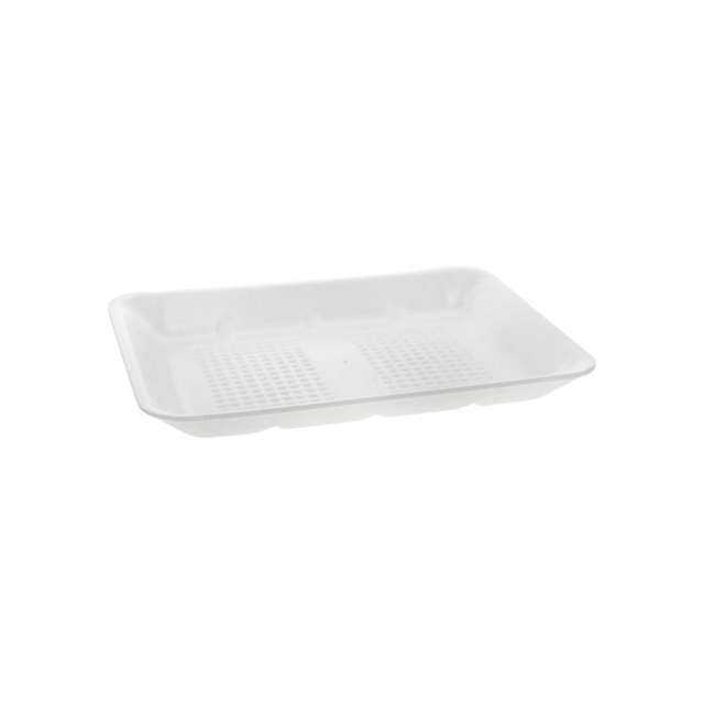 8H WHITE HEAVY SUPERMARKET TRAY