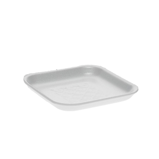 #1S WHITE SUPERMARKET TRAY