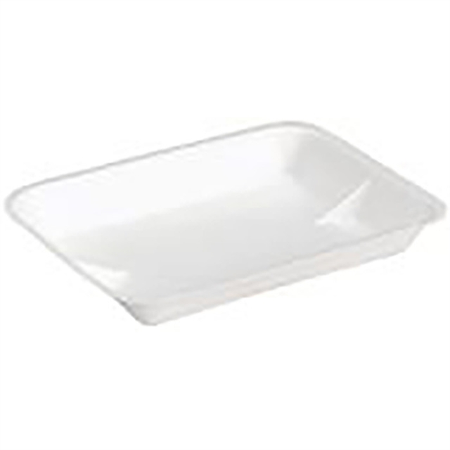 4D WHITE HEAVY SUPERMARKET TRAY