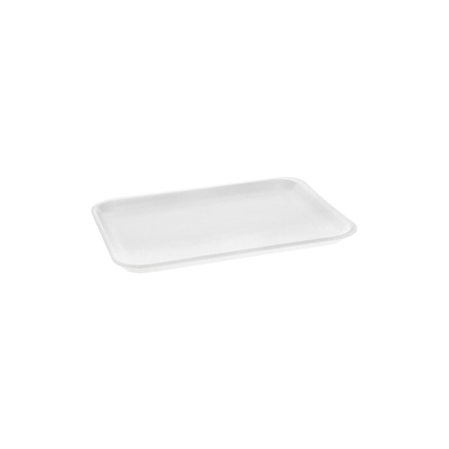 4S WHITE SUPERMARKET TRAY