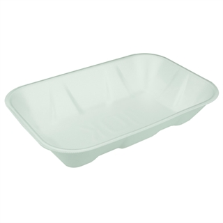 #10K WHITE SUPERMARKET TRAY