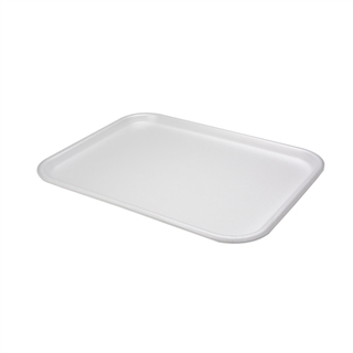 #1216 WHITE SUPERMARKET TRAY