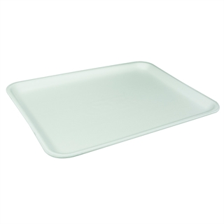 #12S WHITE SUPERMARKET TRAY