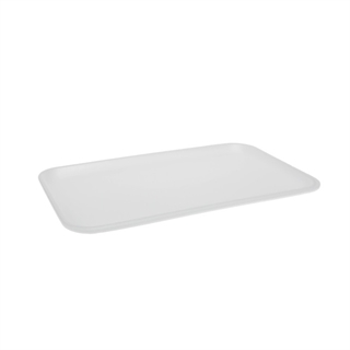 #16S WHITE SUPERMARKET TRAY