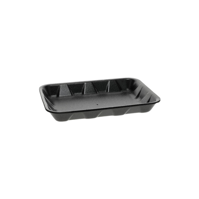 4D1 BLACK SUPERMARKET TRAY