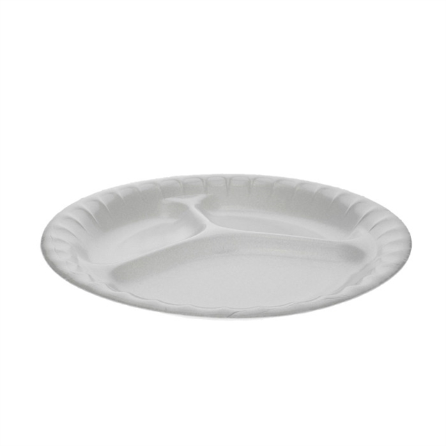 "9"" LAM PLATE-3 COMP-WHITE"