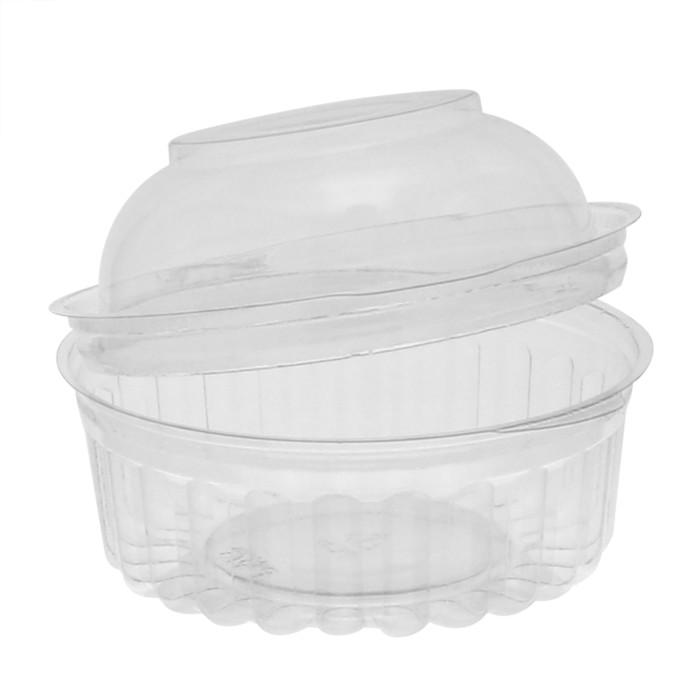 10841apt 8oz Sho Bowl Hinged Lid Dome Clear