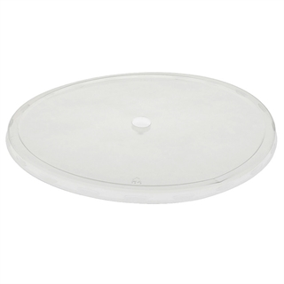 10 in Flat Lid w/ Center Snap