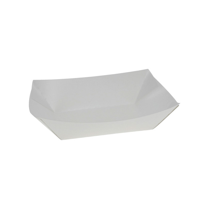 #1 1lb. Paper Food Tray, White, 1,000 ct.
