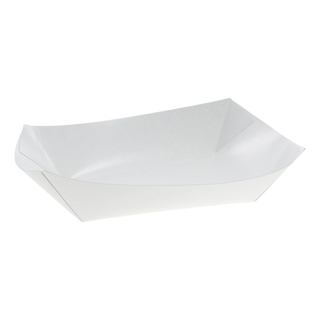 #3 Stock Food Paperboard Tray, White, 500 ct.