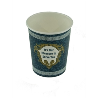 10 oz. Hot Paper Cup with Greek Design, White, 1,000 ct.