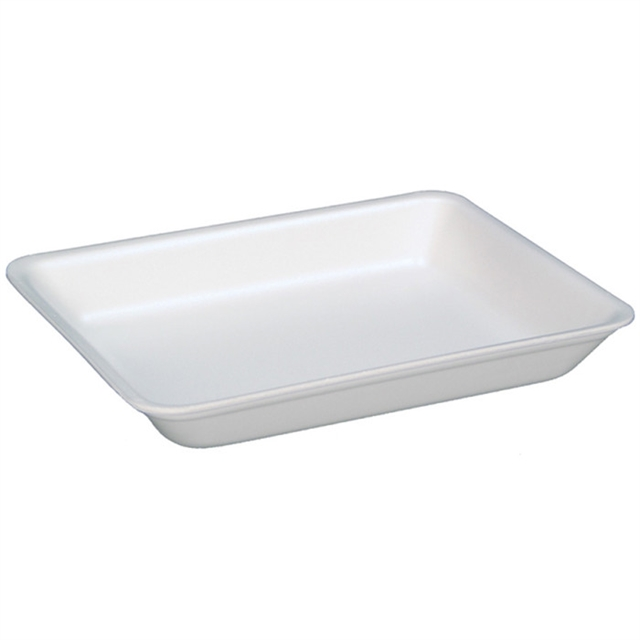 4D WHITE SUPERMARKET TRAY
