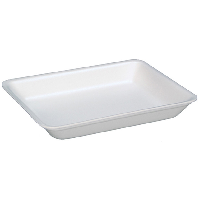 4PZ WHITE SUPERMARKET TRAY