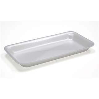 #1014 WHITE SUPERMARKET TRAY