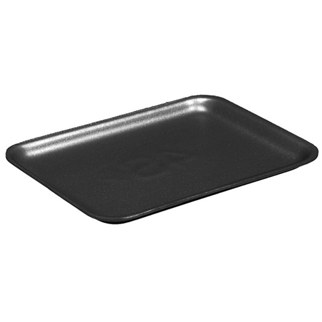 1S Black Supermarket Tray