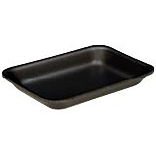2P BLACK MEDIUM SUPERMARKET TRAY