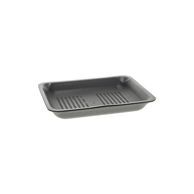 4P BLACK MEDIUM SUPERMARKET TRAY