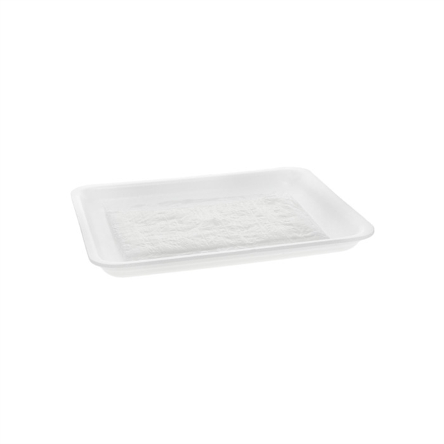 8S WHITE PROCESSOR TRAY WITH POUCH PAD