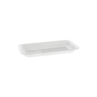 10P WHITE FOAM PROCESSOR TRAY W/POUCH