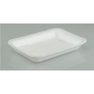 10S WHITE PROCESSOR TRAY W/PAD