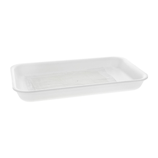 9X14 WHITE PROCESSOR TRAY W/ SAP PAD