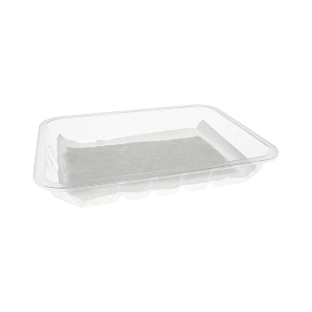 8P PET ROLLED RIM TRAY W/PAD