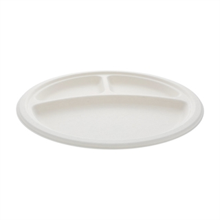 10IN 3 CMPT BAGASSE PLATE EARTHPLUS