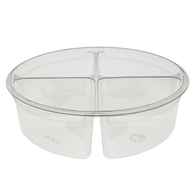 7 in Round 32oz Tub 4 Compartments