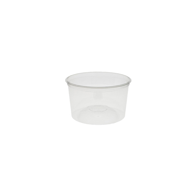 "7"" Round RPET 60oz Tub w/ Dome Bottom"