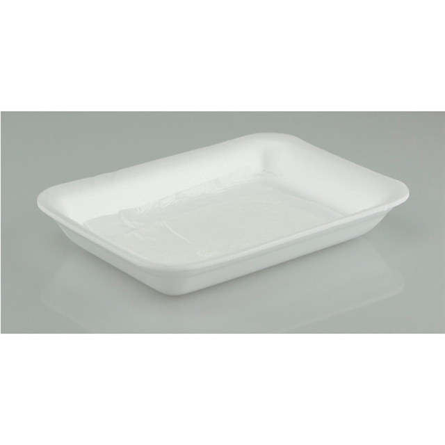 7P WHITE PROC TRAY WITH POUCH PAD