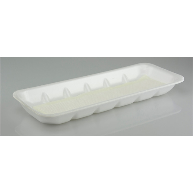 25P WHITE PROCESSOR TRAY W/ POUCH PAD
