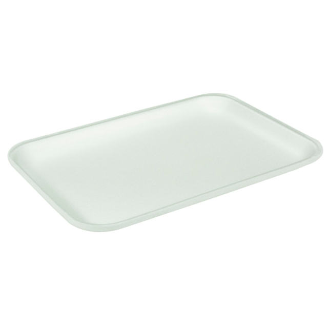 25S WHITE FOAM PROC TRAY W/ POUCH PAD