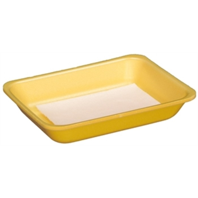 3 DW YELLOW PROC TRAY W/ PAD