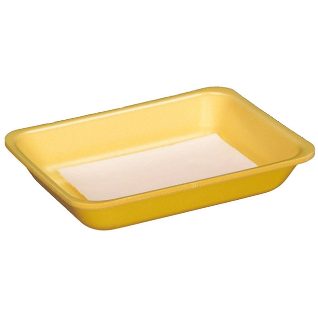 4S YELLOW PROC TRAY W/ INVERTED PAD