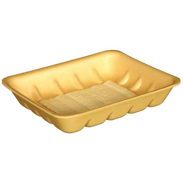 8P YELLOW  PROCESSOR TRAY W/ POUCH PAD