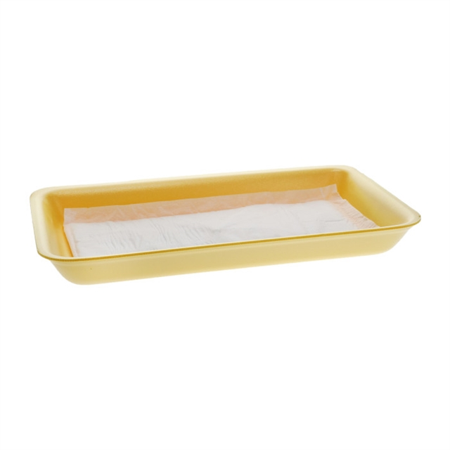 25D YELLOW PROC TRAY W/ INVERTED PAD