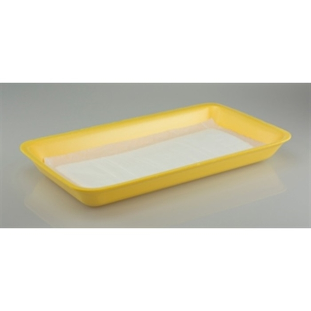 25P YELLOW PROC TRAY W/ PAD