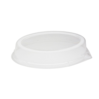 "<p>10"" x 12.5"" Clear Dome Plastic Lid for Black Foam Platter (YTKB00470000)</p>"