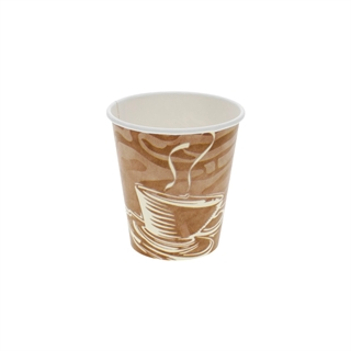 10 oz. Hot Paper Cup with Swirl Design, White, 1,000 ct.