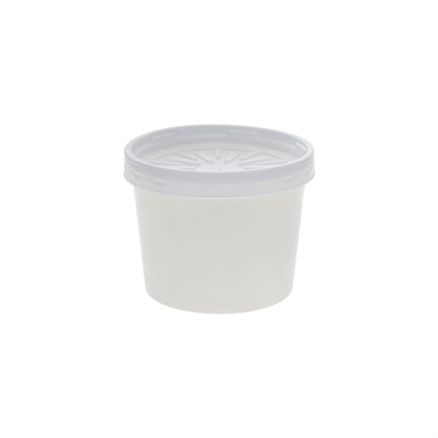 USF-CONTAINER, 12OZ RND WHITE 250 W/LID