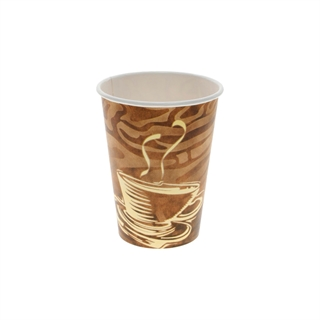 12 oz. Hot Paper Cup with Swirl Design, White, 1,000 ct.