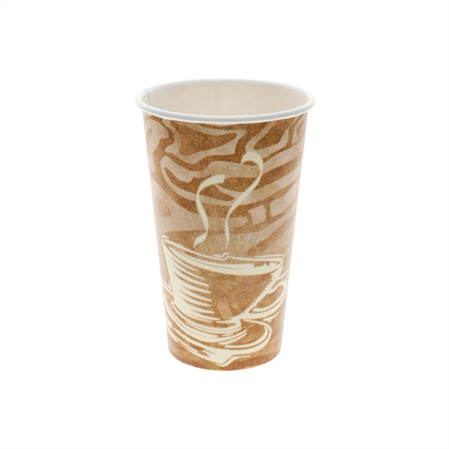 16 oz. Hot Paper Cup with Swirl Design, White, 1,000 ct.