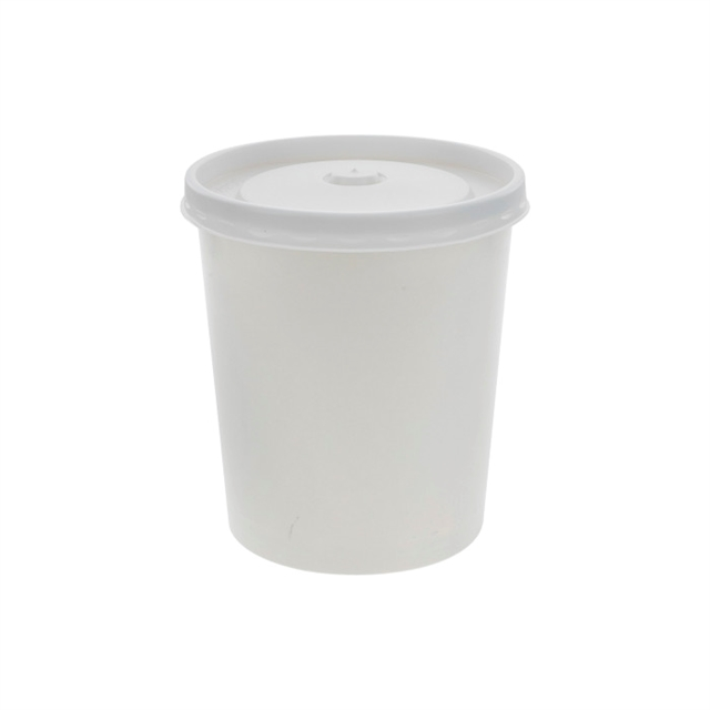 USF-CONTAINER, 32OZ RND WHITE 250 W/LID