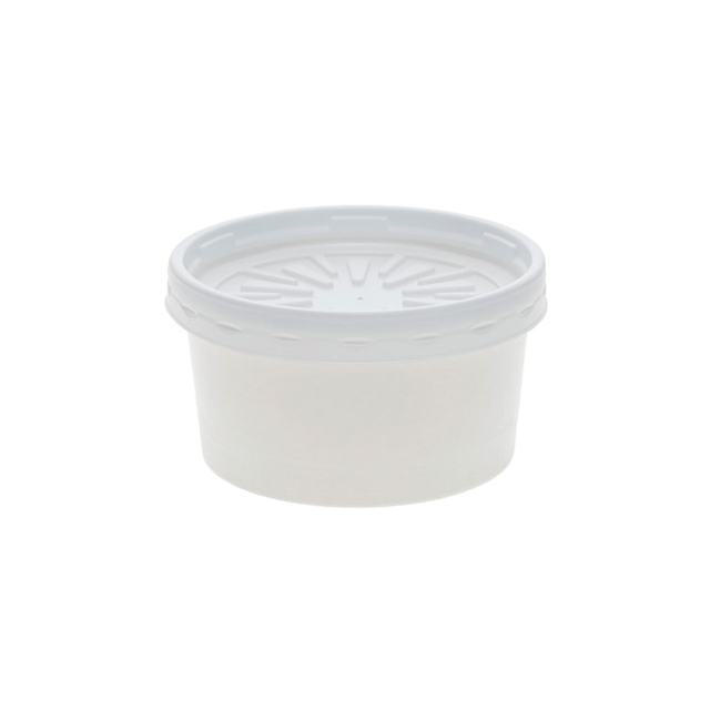USF-CONTAINER, 8OZ RND WHITE 250 W/LID