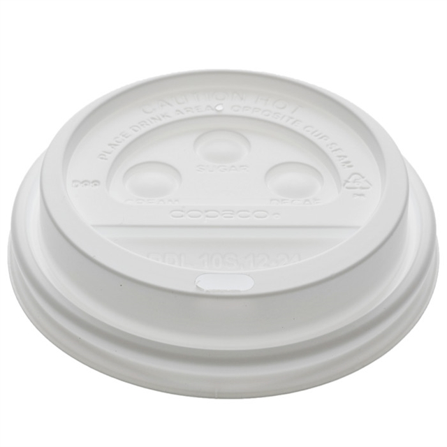 Dome Lid for 10–24 oz. Hot Paper Cup, White, 1,000 ct.