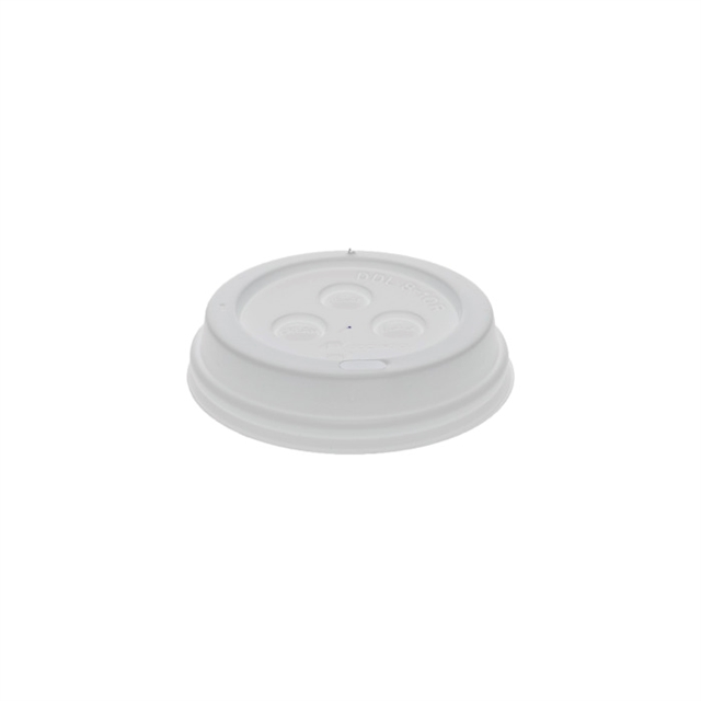 USF-CUP LID, HOT 8OZ WHITE DOME 1000CT