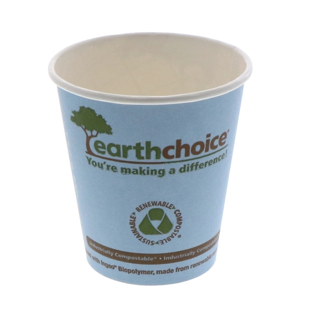 10 oz EarthChoice PLA Paper Hot Cup