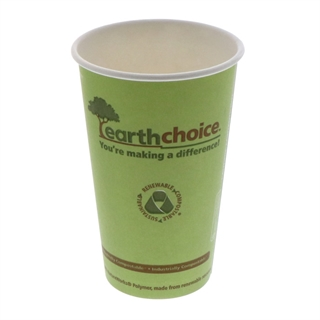 16 oz Compostable Large Paper Cup, Green, 1,000 ct.